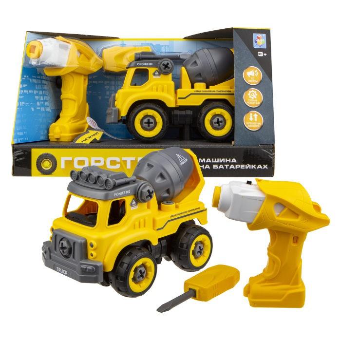 Конструкторы 1 Toy Машинка Горстрой бетономешалка с двигателем
