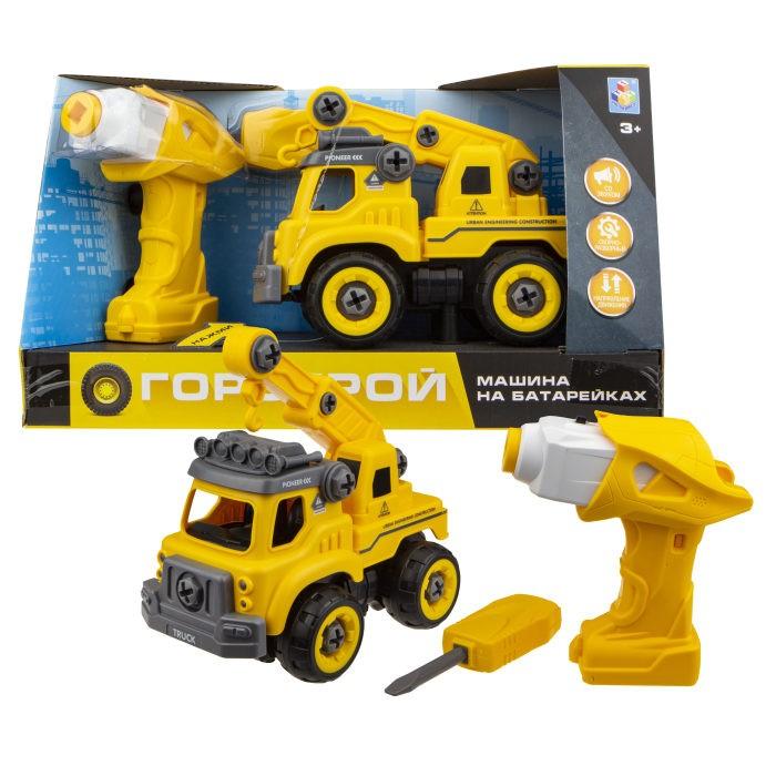 Конструктор 1 Toy Машинка Горстрой автокран с двигателем фото