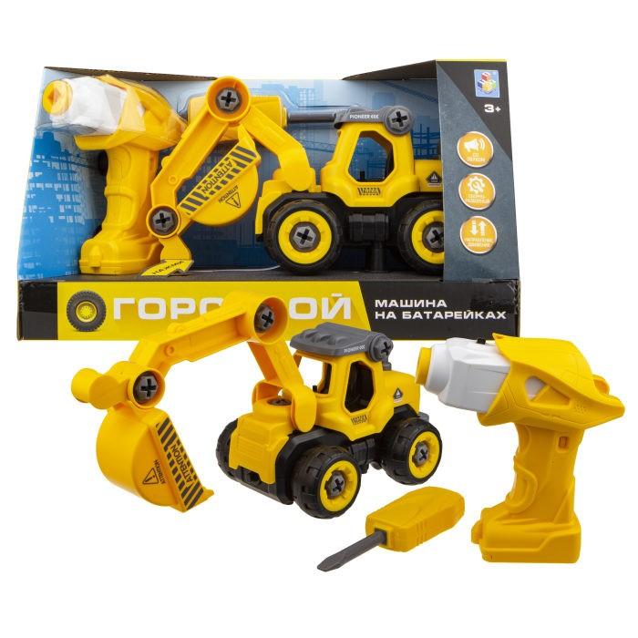 Конструкторы 1 Toy Машинка Горстрой экскаватор с двигателем