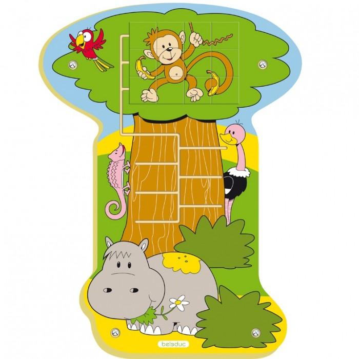 Деревянная игрушка Beleduc Настенный пазл Обезьянка в джунглях фото