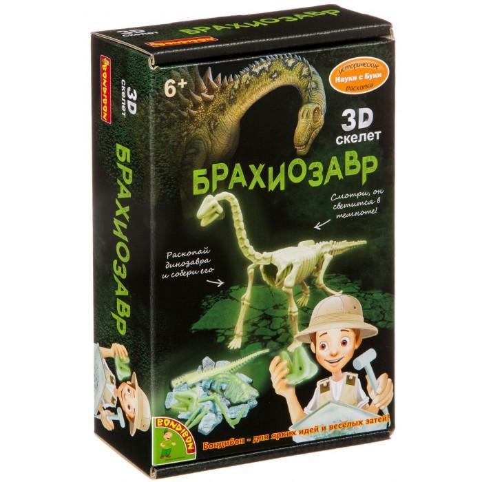 Купить Наборы для опытов и экспериментов, Bondibon Исторические раскопки Брахиозавр светящийся