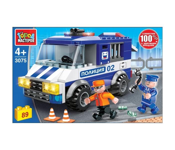Сборные модели Город мастеров Побег из полицейской машины с фигурками (89 деталей printio побег
