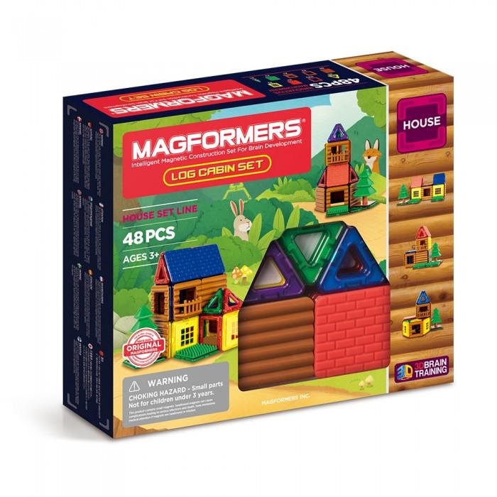Купить Конструкторы, Конструктор Magformers Магнитный Log Cabin Set (48 деталей)