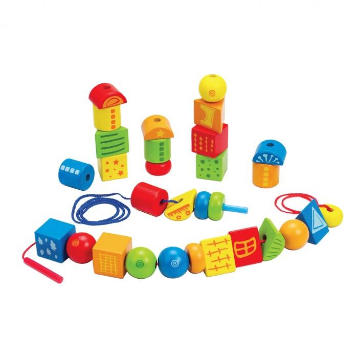 Деревянные игрушки Hape набор Шнуровка