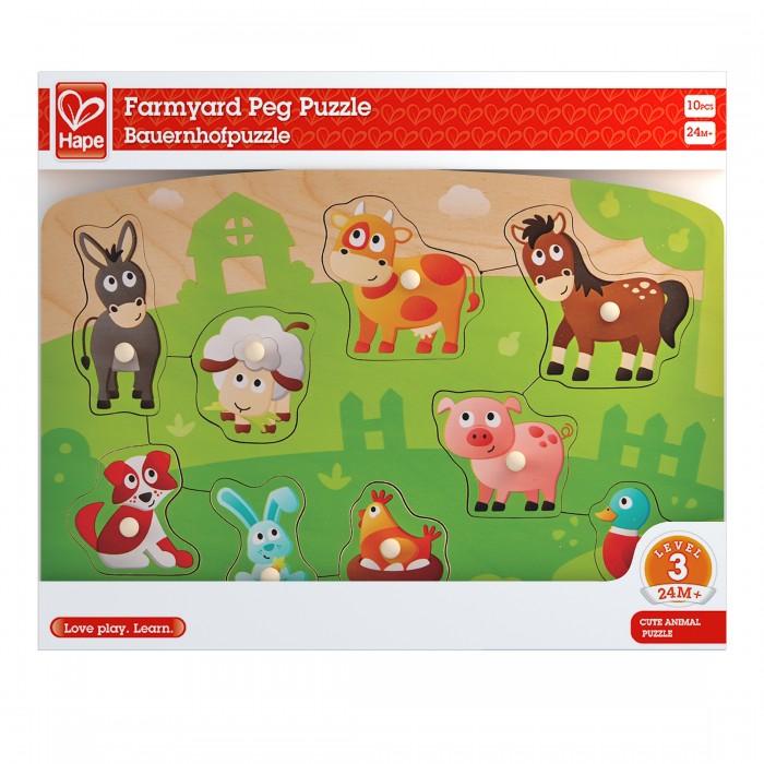 Фото - Деревянные игрушки Hape Пазл Ферма E1408A деревянные игрушки hape погремушка радуга