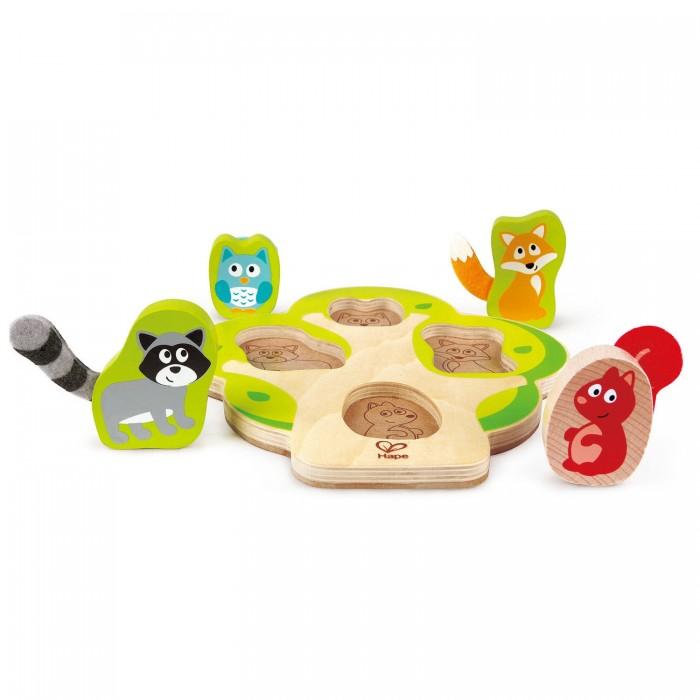 Фото - Деревянные игрушки Hape пазл Кто в дереве деревянные игрушки hape погремушка радуга