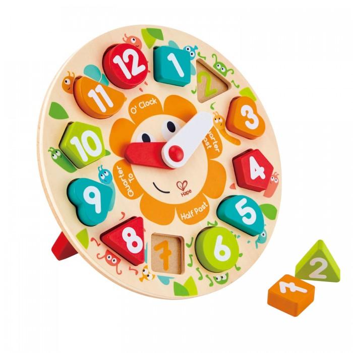 Фото - Деревянные игрушки Hape пазл Часы деревянные игрушки hape погремушка радуга