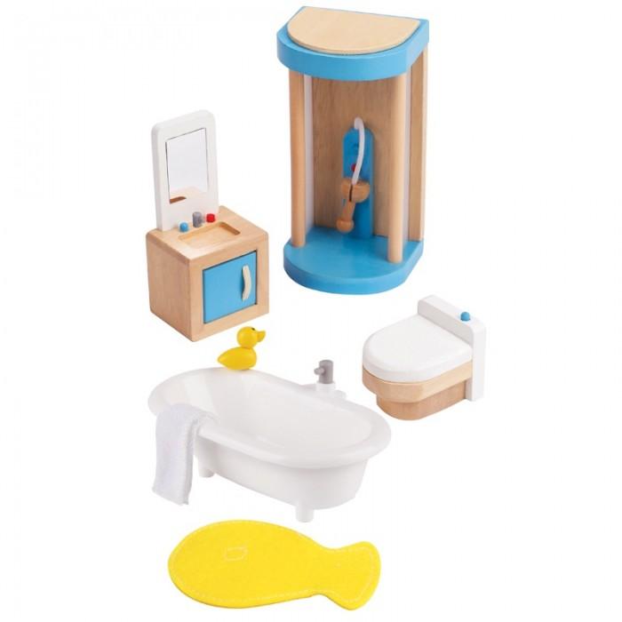 Кукольные домики и мебель Hape Мебель для ванной кукольные домики и мебель hape мебель для столовой