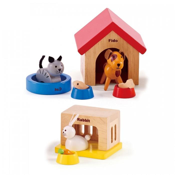 Фото - Деревянные игрушки Hape Набор Животные E3455A деревянные игрушки hape погремушка радуга