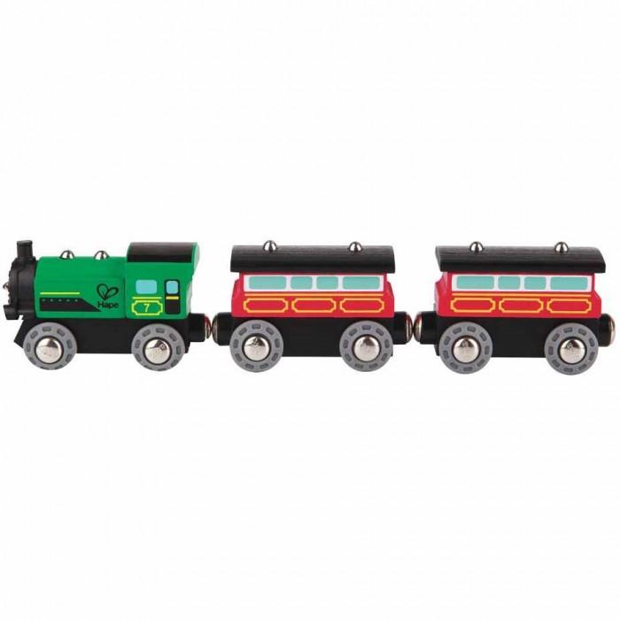 Купить Железные дороги, Hape Игровой набор Поезд с пассажирскими вагонами