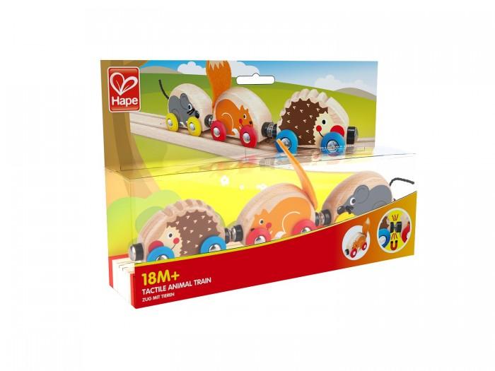 Фото - Деревянные игрушки Hape Паровозик животные деревянные игрушки hape погремушка радуга