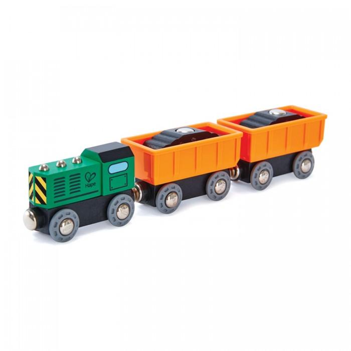 Железные дороги, Hape Игровой набор Поезд с грузовыми вагонами E3718A  - купить со скидкой
