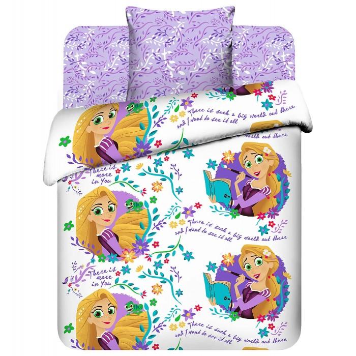 Постельное белье 1.5-спальное Askona 1.5 спальное Disney Новая история Рапунцель (3 предмета)