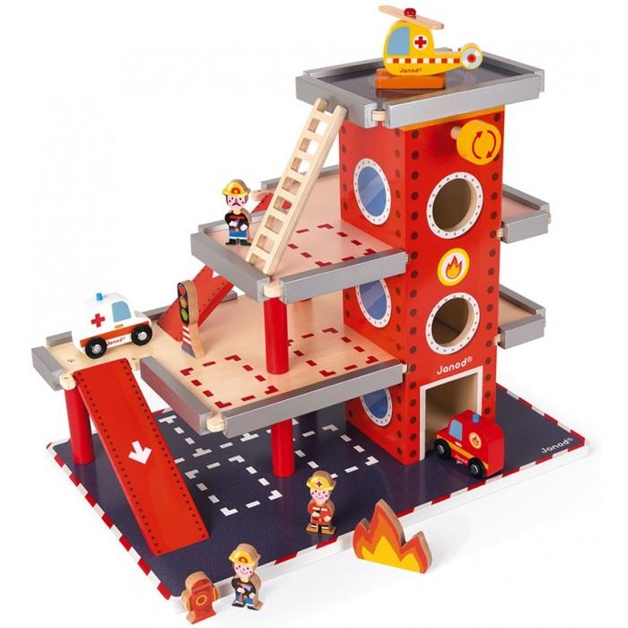Игровые наборы Janod Набор игровой Пожарная станция игровой набор hasbro город пожарная станция b3415