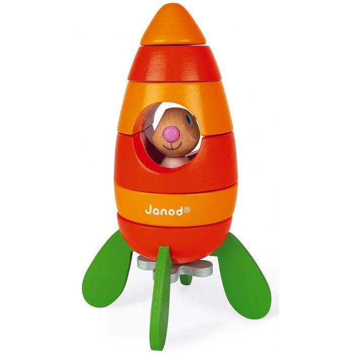 Конструкторы Janod магнитный Кролик в ракете (6 элементов)
