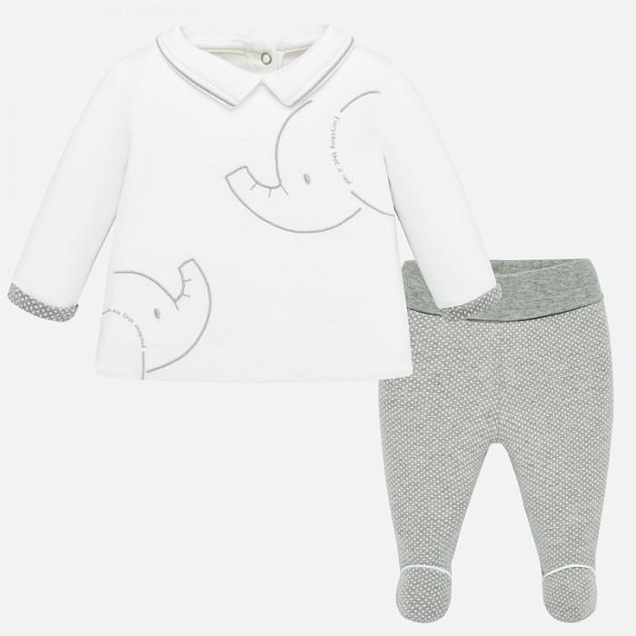 Купить Mayoral Комплект для мальчика (ползунки и фуфайка) Слоник New Born 1536 в интернет магазине. Цены, фото, описания, характеристики, отзывы, обзоры