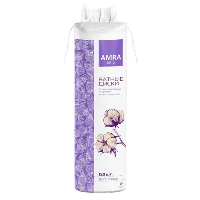 Гигиена для мамы Amra Косметические ватные диски 120 шт.