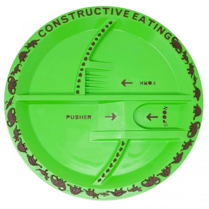Купить Посуда, Constructive eating Тарелка с изображением динозавров
