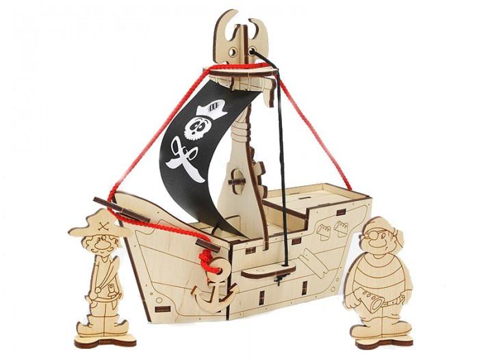 Сборные модели Woody Набор для творчества Пиратский корабль Карамба ручка карамба 000138 голубой