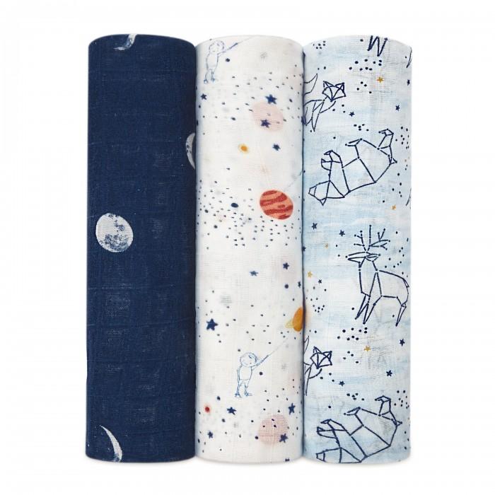 Купить Пеленки, Пеленка Aden&Anais из бамбука Stargaze 120х120 см 3 шт.