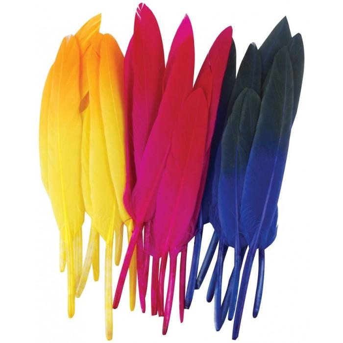 Наборы для творчества Остров Сокровищ Перья декоративные 10-15 см 6 цветов 24 шт.
