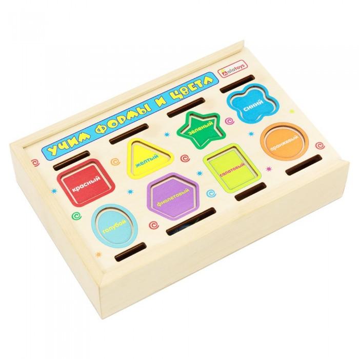 Купить Деревянные игрушки, Деревянная игрушка Alatoys сортер Учим формы и цвета