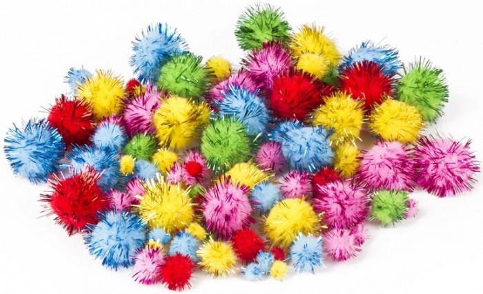 Наборы для творчества Остров Сокровищ Помпоны для творчества 5 цветов