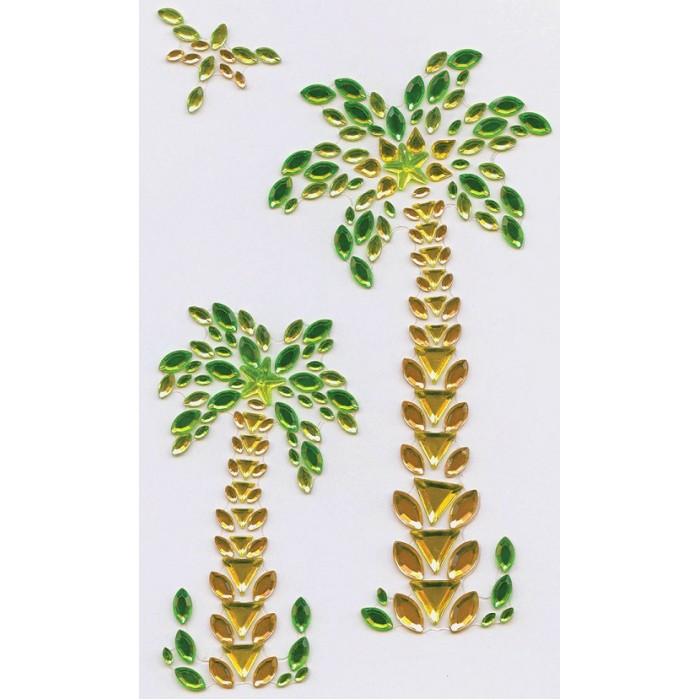 Наборы для творчества Остров Сокровищ Наклейки готовые из страз Пальмы (3 элемента)