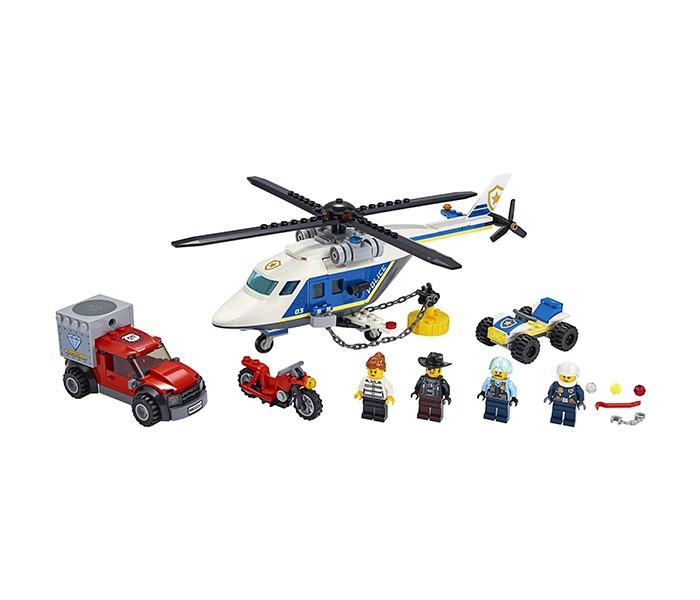 Купить Конструктор Lego City 60243 Лего Город Погоня на полицейском вертолёте