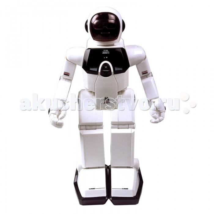 Интерактивная игрушка Silverlit Роботы Programme-a-botРоботы Programme-a-botРоботы Silverlit Programme-a-bot  В набор Program-a-bot входит два робота разного размера. Большой робот способен обнаруживать предметы и реагировать на команды и действия человека. Маленький робот (Maxi Pals) способен взаимодействовать с большим роботом.   Большой робот Program-a-bot умеет выполнять следующие действия:   двигаться вперед-назад, вправо и влево;  пинать предметы одной ногой;  танцевать;  изменять направление движения при столкновении с препятствием;  реагировать на хлопки и громкие звуки (отзывается движением вперед-назад, вправо и влево);  охранять жилище (реагирует вспышкой глаз, движениями и звуками, когда перед ним появляется какой-либо предмет).    Маленький робот Maxi Pals умеет:   отдавать команды большому роботу (одна вспышка глаз Maxi Pals – робот Program-a-bot идет вперед, две вспышки – поворачивает налево, три – поворачивает направо);  двигаться вперед (Maxi Pals заводится с помощью ключика, расположенного на боку слева).   На спине большого робота Program-a-bot есть «космический рюкзак» с восьмью активными кнопками (движение в 4-х направлениях, пинок, танец, сигнал, старт). С их помощью робота можно программировать на выполнение определенных действий в заданном порядке.  Так, если два раза нажать на кнопку со стрелкой вправо, а затем на кнопку «Dance» («Танец»), робот дважды повернется на одном месте, а после этого исполнит небольшой танец под ритмичную музыку. За один раз робота можно запрограммировать на выполнение от 1 до 36 действий.  Для работы программируемого робота необходимы 4 батарейки типа «АА» (не входят в комплект), для работы робота Maxi Pals – 2 батарейки типа «LR44» (входят в комплект).  Размер:  программируемый робот - 19х11х29 см робот Maxi Pals - 5х6х10 см<br>