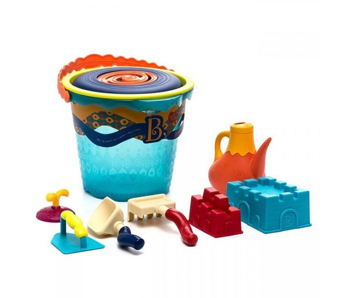 Летние товары , Игрушки в песочницу Battat Большое ведерко и игровой набор для песка 9 деталей арт: 83812 -  Игрушки в песочницу