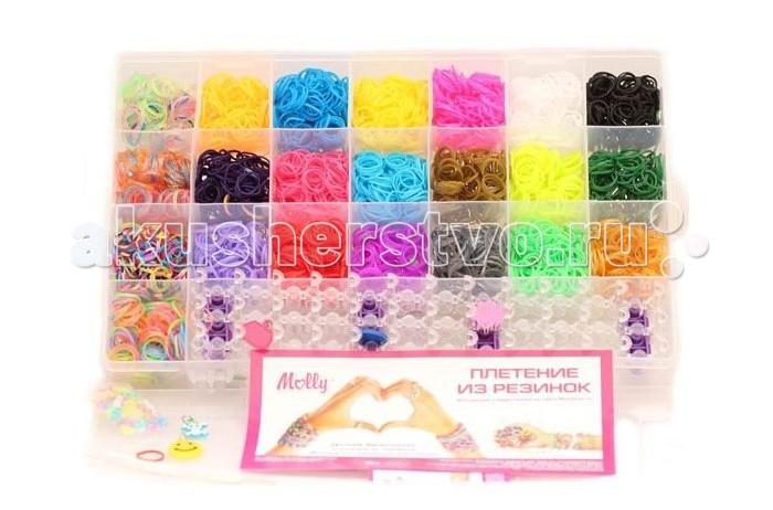 Наборы для творчества Molly Набор для плетения из резинок 3000 шт.