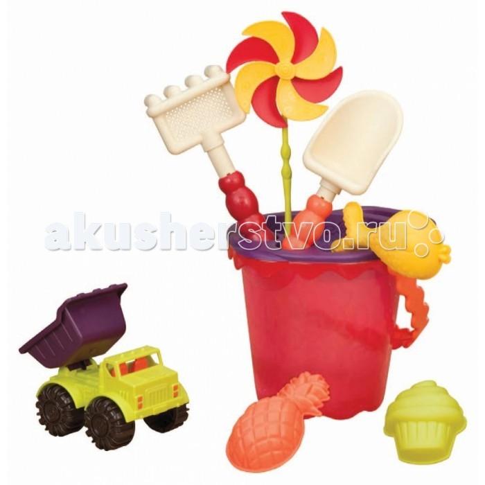 Зимние товары , Игрушки для зимы Battat B Summer Малое ведерко и игровой набор для песка 9 деталей арт: 83842 -  Игрушки для зимы