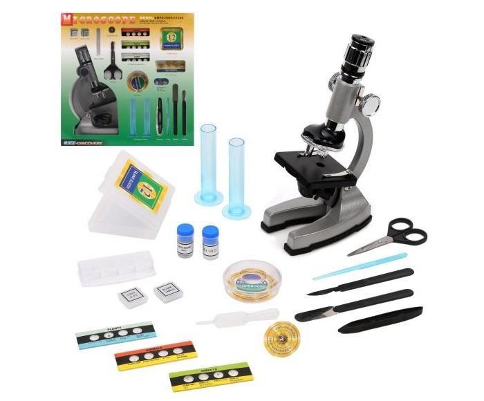 Купить Наборы для опытов и экспериментов, Наша Игрушка Набор Юный натуралист микроскоп (47 предметов)