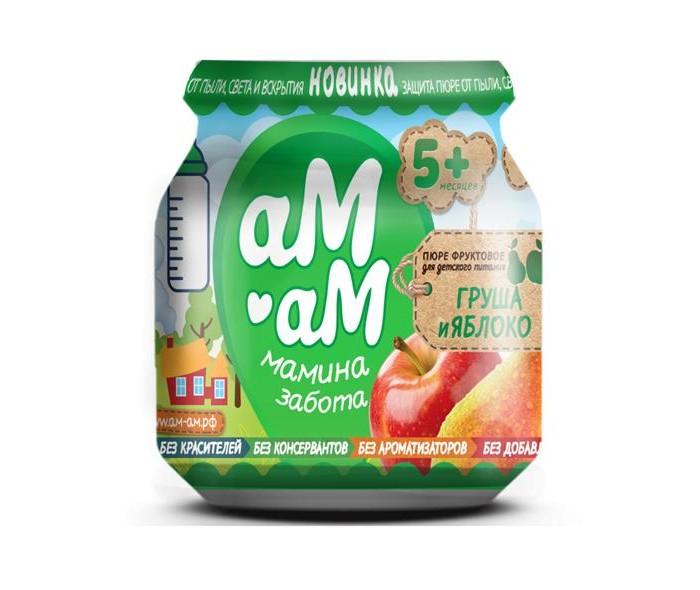 Пюре аМ-аМ Груша, яблоко с 5 мес., 90 г