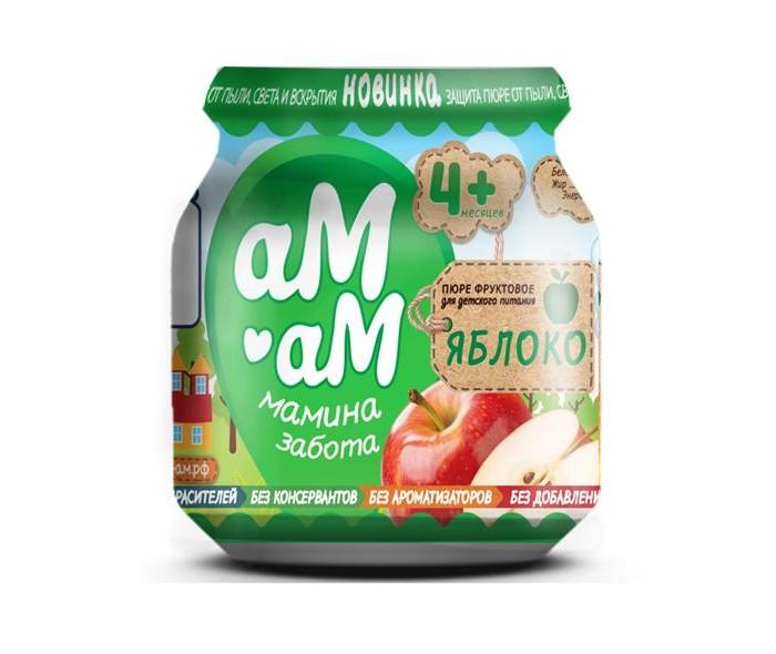 Купить аМ-аМ Пюре Яблоко с 4 мес., 90 г в интернет магазине. Цены, фото, описания, характеристики, отзывы, обзоры