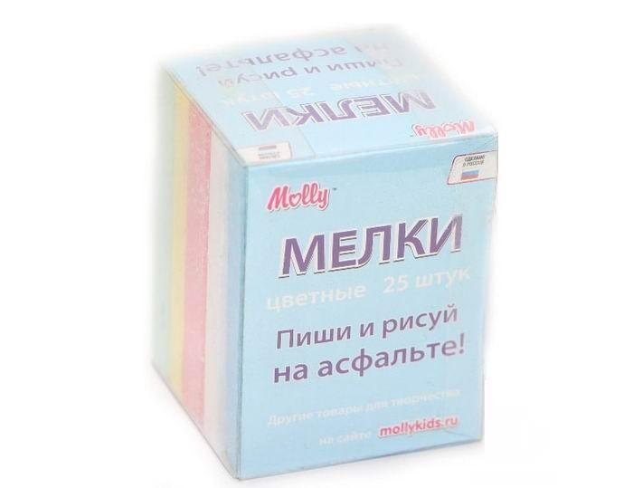 Мелки Molly для рисования асфальтовые цветные 25 шт. фонарь maglite 2d серебристый 25 см в картонной коробке 947251