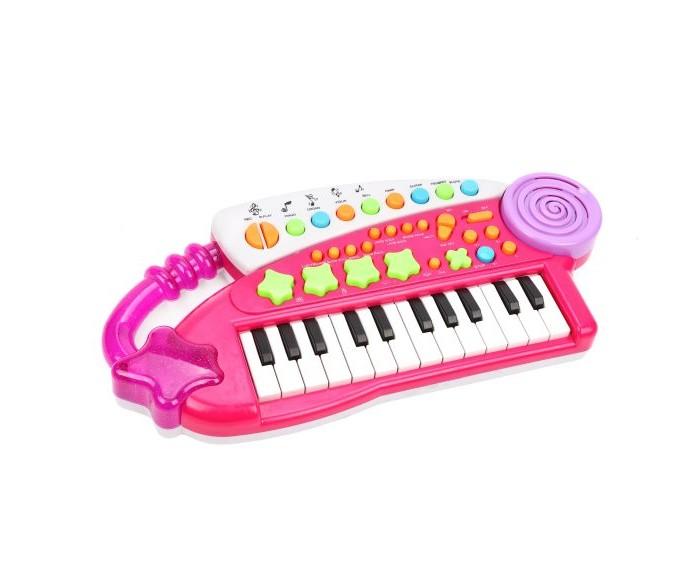 Музыкальные инструменты, Музыкальный инструмент Наша Игрушка Синтезатор Удачливый музыкант 24 клавиши  - купить со скидкой