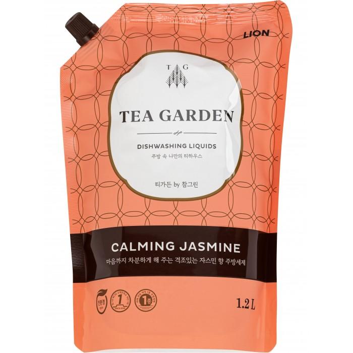 Бытовая химия CJ Lion Средство для мытья посуды Chamgreen Tea Garden Жасмин мягкая упаковка 1200 мл