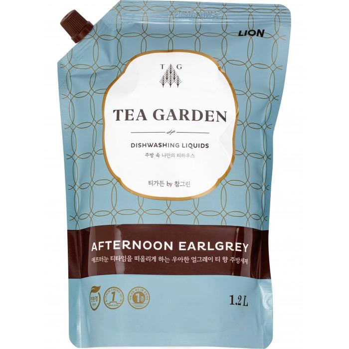 Бытовая химия CJ Lion Средство для мытья посуды Chamgreen Tea Garden Бергамот мягкая упаковка 1200 мл