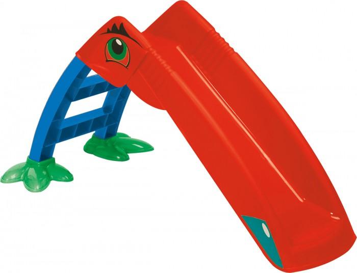 Горка Palplay (Marian Plast) ПеликанПеликанГорка предназначена для игры на улице, так и в закрытом помещении.  Изготовлена из упрочненного, экологически чистого пластика.   Размеры:135x41x56h Вес: 3.9 кг<br>