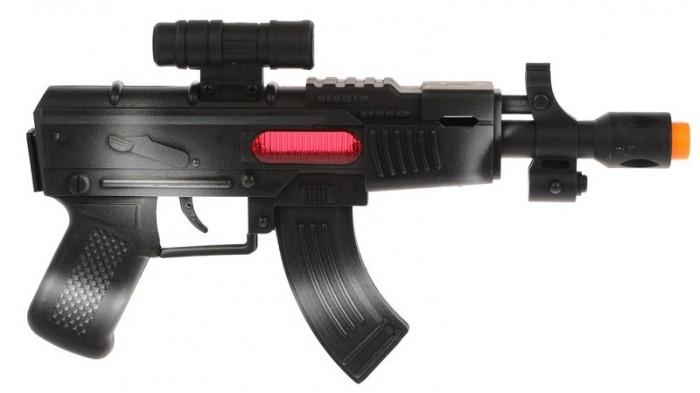 Фото - Игрушечное оружие Наша Игрушка Автомат с трещоткой M0341 автомат с трещеткой 23см наша