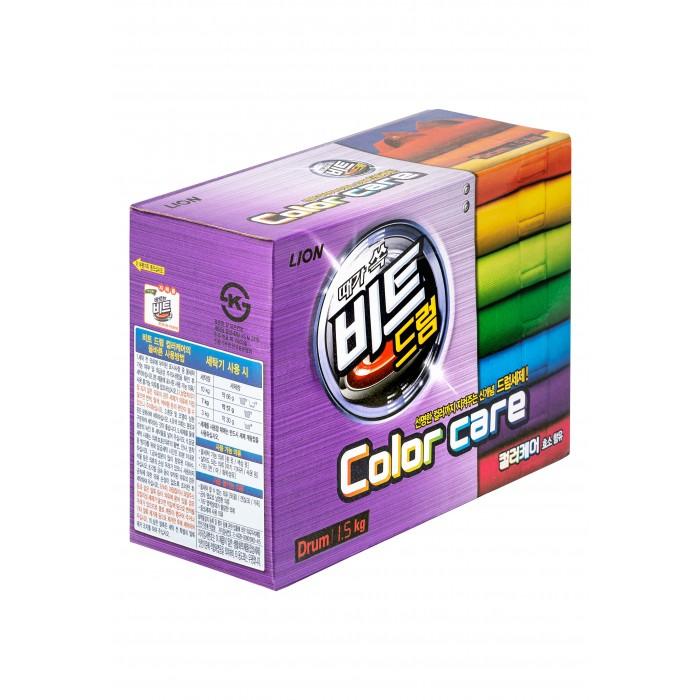 Бытовая химия CJ Lion Концентрированный стиральный порошок Beat drum color care защита цвета 1,5 кг бытовая химия lv концентрированный стиральный порошок для цветного белья 1 6 кг