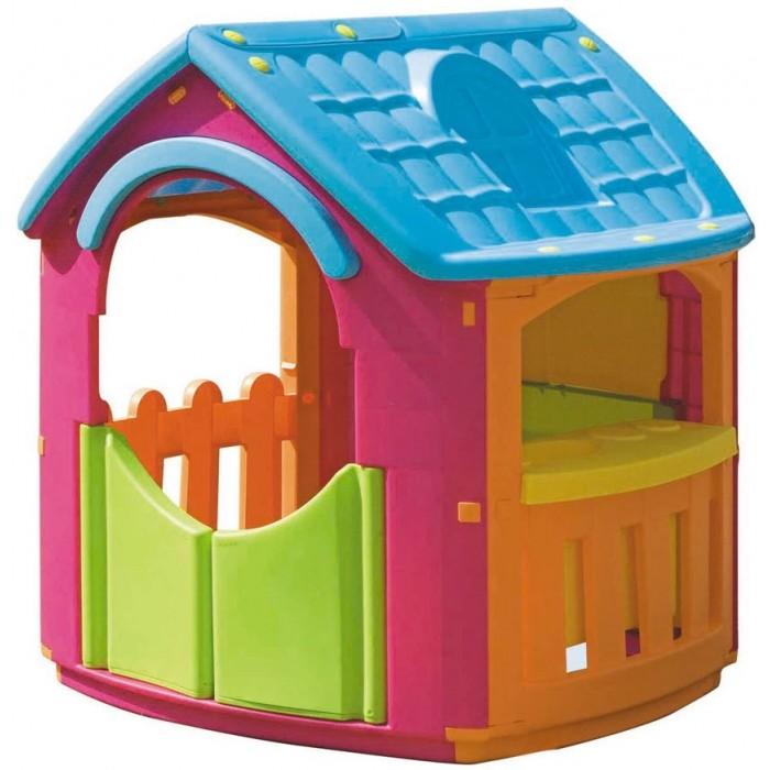 Palplay (Marian Plast) Игровой домик кухняИгровой домик кухняУдобный красивый домик для веселой игры, для помещения и улицы.  Набор для кухни добавит новые идеи для маленьких помощниц и помощников. Идеально для летнего отдыха на даче.  Домик сделан из современных, нетоксичных материалов, с соблюдением европейского стандарта качества и безопасности для товаров для детей.   Яркий пластик.Сертифицировано в России.  Игровой домик стимулирует малыша к активным действиям и движению, развивает воображение и стратегическое мышление.  К домику прилагаются предметы для кухни.   Размеры: 101x105x110.5h.  Вес нетто: 13.770кг<br>