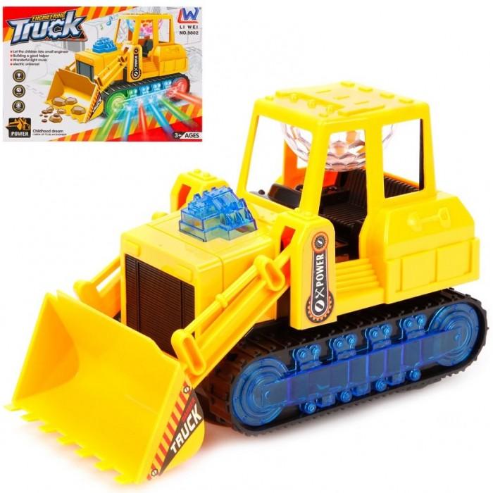 Машины Наша Игрушка Бульдозер со световыми и звуковыми эффектами каталка игрушка умка лошадка b876678 r со звуковыми эффектами желтый