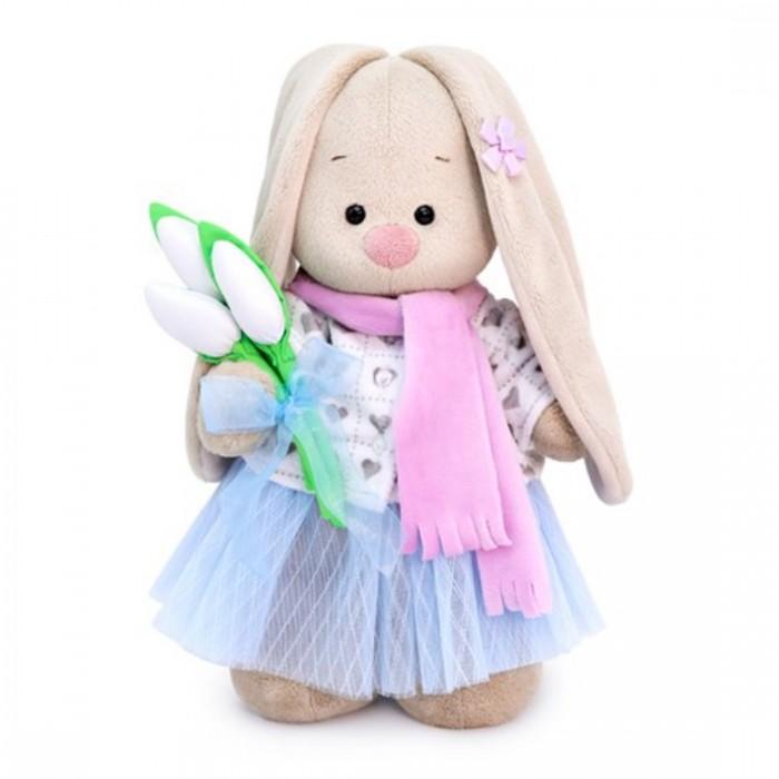 Картинка для Мягкие игрушки Budi Basa Зайка Ми с белыми тюльпанами 15 см