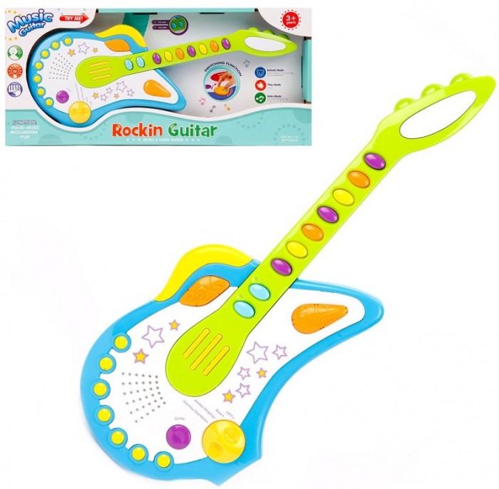 Купить Музыкальные инструменты, Музыкальный инструмент Наша Игрушка Гитара со световыми и звуковыми эффектами