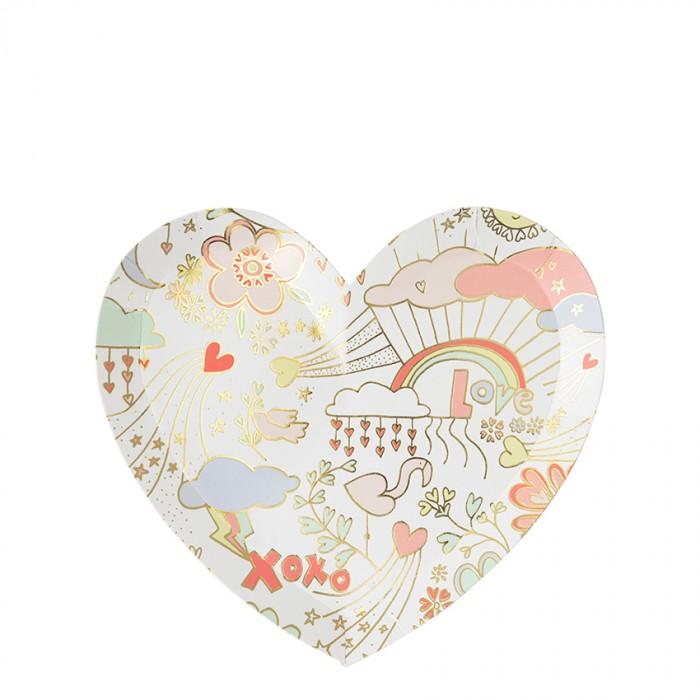 Товары для праздника MeriMeri Тарелки День Святого Валентина малые 8 шт.