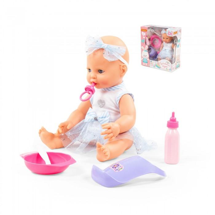 Купить Куклы и одежда для кукол, Полесье Пупс Забавный с соской и набором для кормления 35 см