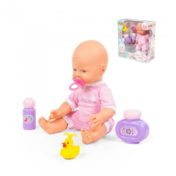 Купить Куклы и одежда для кукол, Полесье Пупс Забавный с соской и набором для купания 35 см 78322